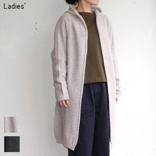 maomade フードニットカーディガン Hood Knit Cardigan 711147 (BEIGE , CHARCOAL)