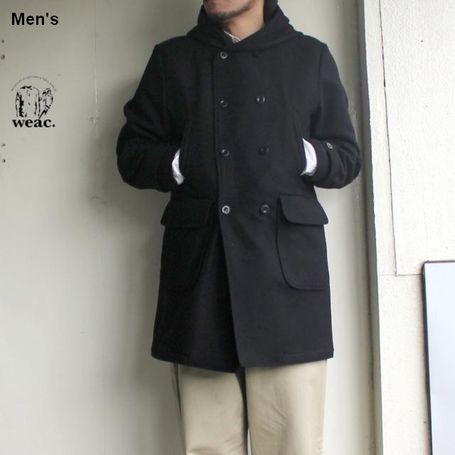 weac. メルトンウールコート BOY COAT (BLACK)
