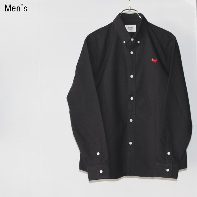 weac. ボタンダウンシャツ PUGCHAN FRIENDS (BLACK)