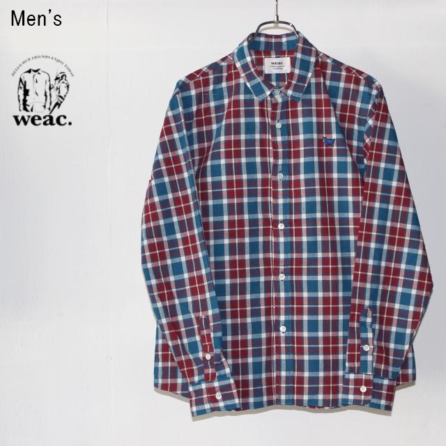 weac. チェックシャツ PUGCHAN  (RED×BLUE)