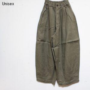 HARVESTY リネンコットンサーカスパンツ LINEN COTTON CIRCUS PANTS A11803 (OLIVE)