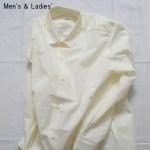 THE HINOKI パラシュートクロス丸襟シャツ  (WHITE)