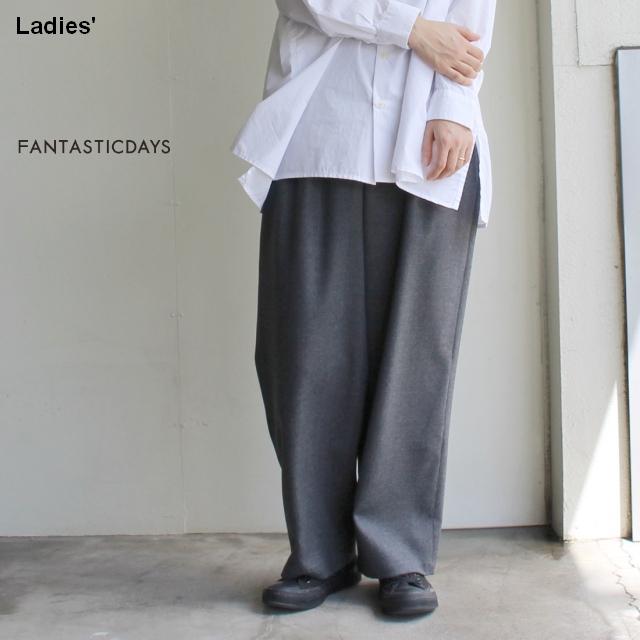 FANTASTICDAYS  2タックウールワイドパンツ 2PCROPPED-83-01 (GRAY)