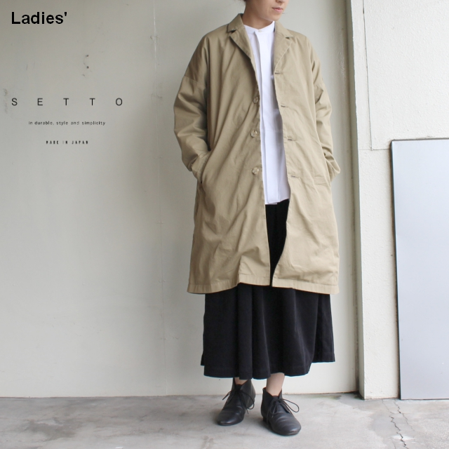 SETTO テーラードコート LEAF COAT (BEIGE)