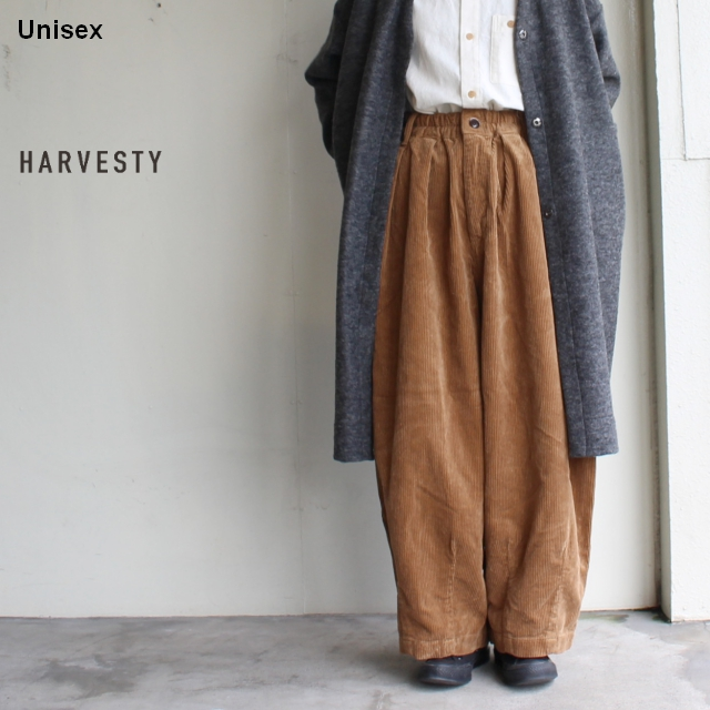 HARVESTY コーデュロイサーカスパンツ CORDUROY CIRCUS PANTS A11716 (BROWN)