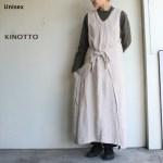 KINOTTO リネンOXエプロンワンピース  251O-01 (麻キナリ)