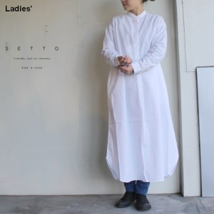 SETTO LONG ONEPIECE STL-SH012 (ホワイト)