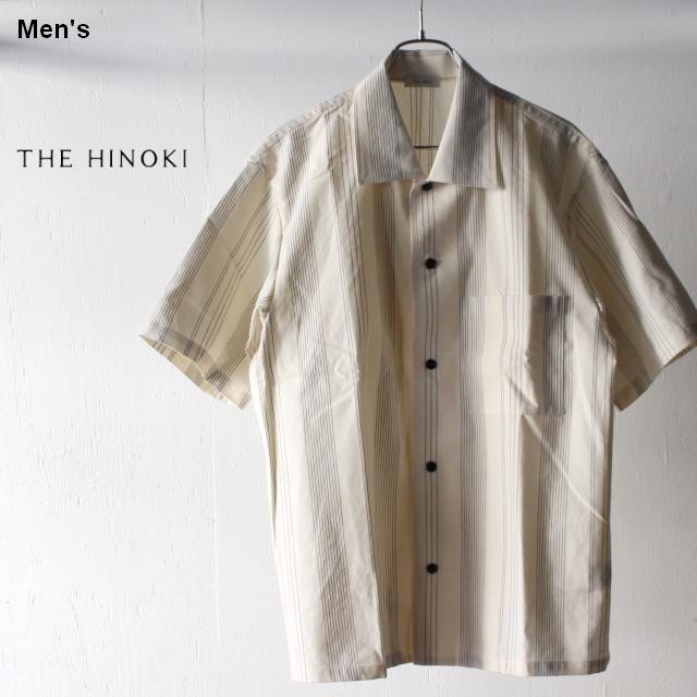 THE HINOKI オーガニックコットンハーフスリーブシャツ TH19S-16 (ストライプ)