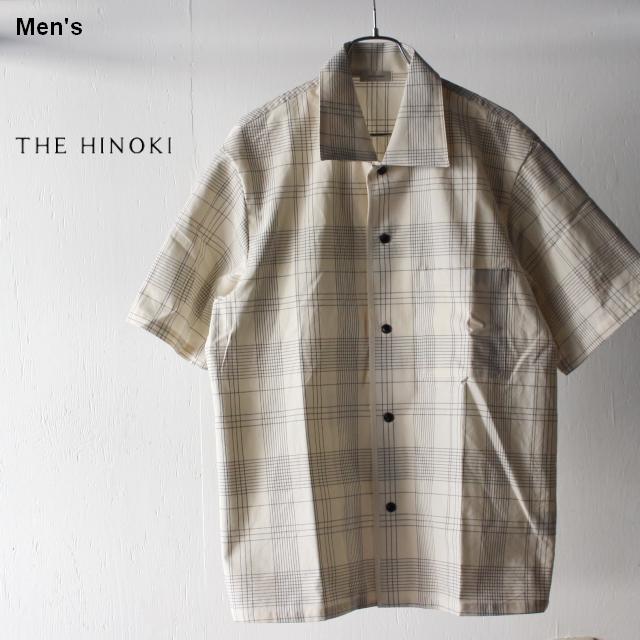 THE HINOKI オーガニックコットンハーフスリーブシャツ TH19S-16 (チェック)