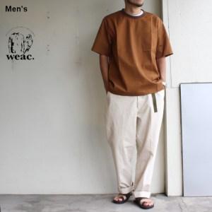 weac. プルオーバー布帛Tシャツ TIMTIM ブリック