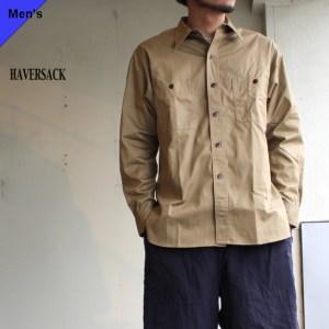 HAVERSACK Equipment コットンドリルレギュラーワークシャツ HSS-016 ベージュ