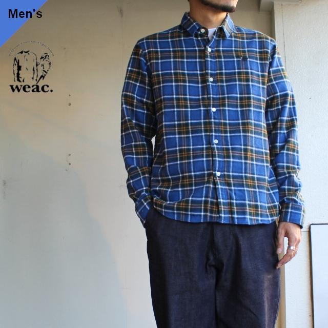 weac. チェックシャツ PUGCHAN  ブルー×グリーン