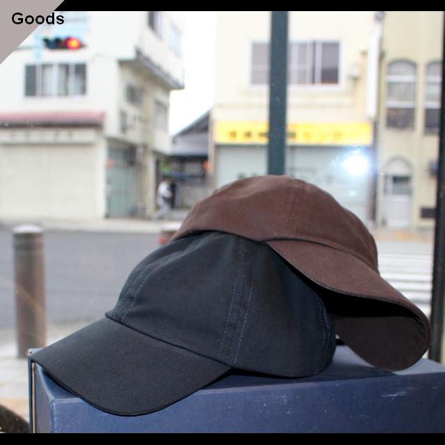 Fold Brim Cap (ブラウン、ネイビー)