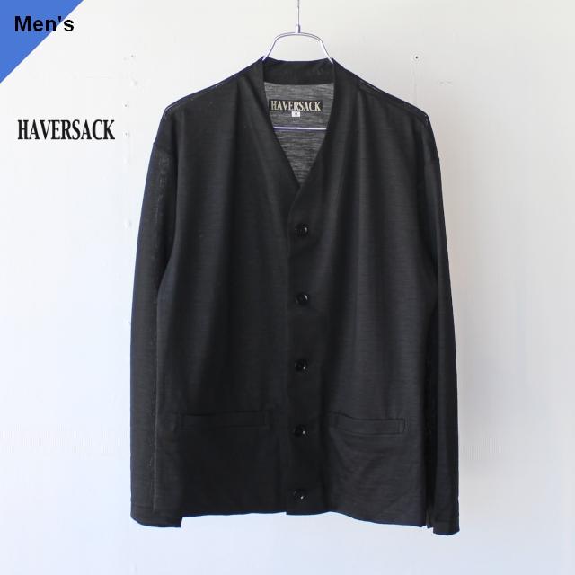 HAVERSACK ハバーサック 812026 ラミー天竺Vカーディガン BLACK