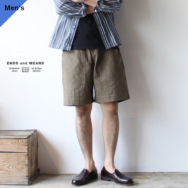 ENDS and MEANS エンズアンドミーンズ Easy Baker Shorts ベーカーショーツ EM201P017