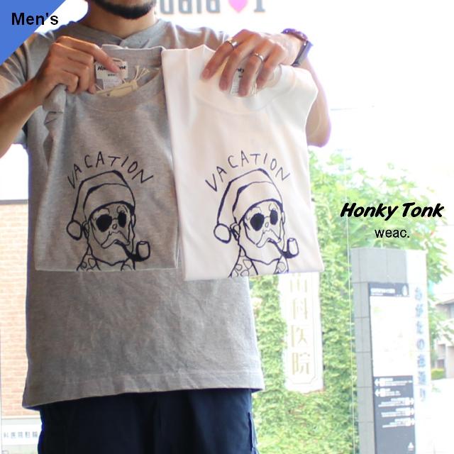 Honky Tonk weac. プリントTシャツ VACATION SANTA