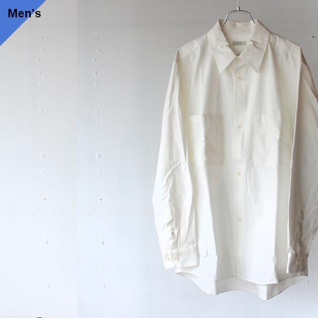 THE HINOKI ザヒノキ オーガニックコットンギャバジンルーズフィットシャツ TH20W-5 ホワイト