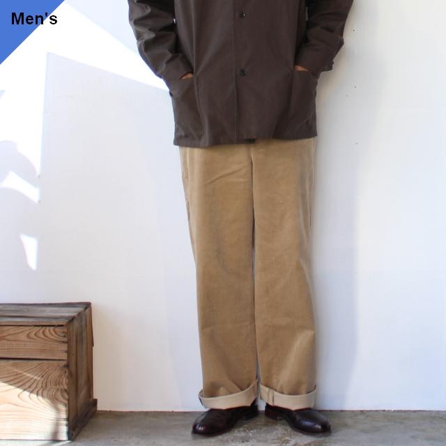 FANTASTICDAYS コーデュロイワイドトラウザー SLASH-M-203-01 Beige