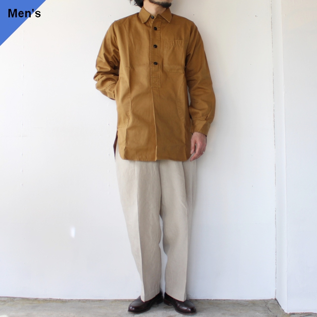 Yarmouth Oilskins The Worker Shirt カーキブラウン