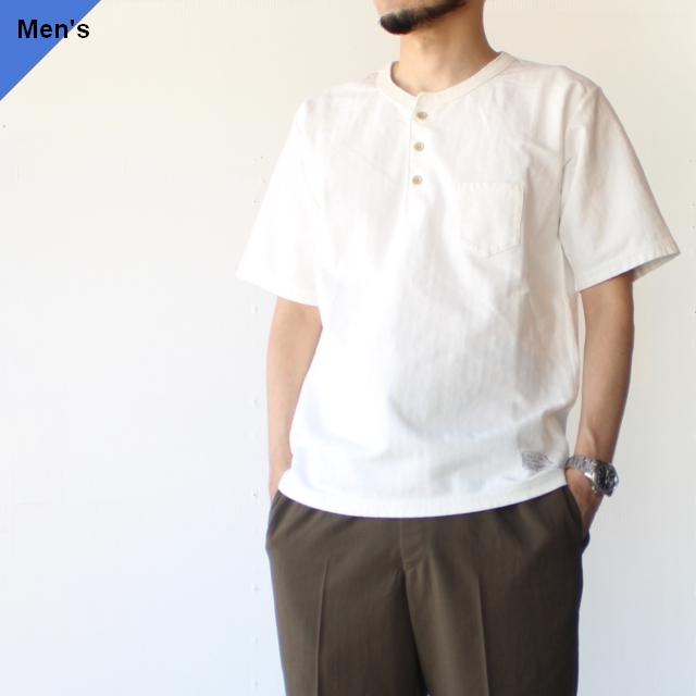 Orgueil オルゲイユ Henry neck t-shirt ヘンリーネックTee OR-9058 WHITE