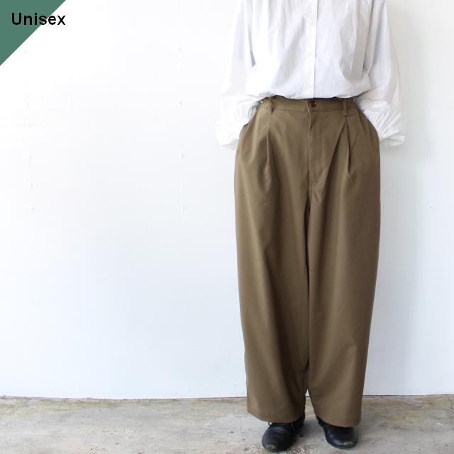 ワイドエッグロングパンツ T/R Wide Egg Long Pants オリーブ