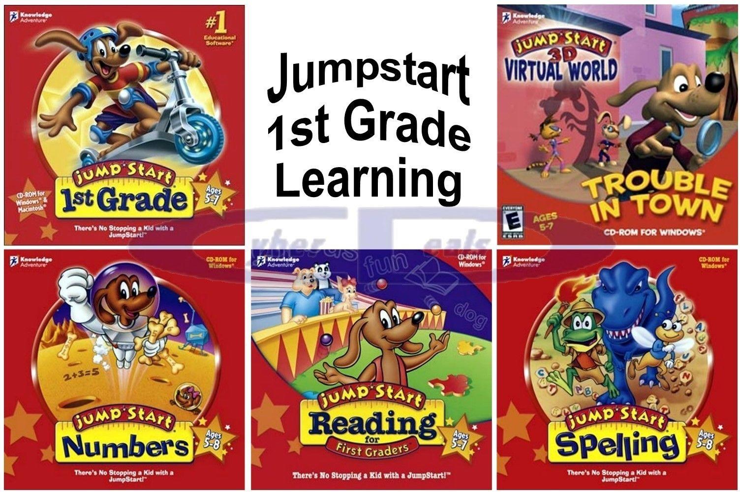 Jumpstart 1st Grade Learning Age 5 Cyber Deals On Ebay