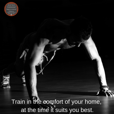 Train whenever it suits you, have all the benefits of training at home.