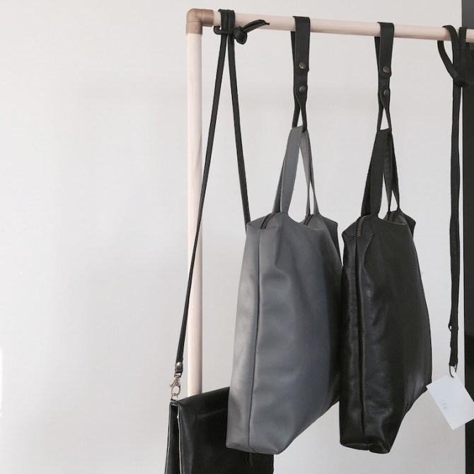 Handtas Stella grijs en zwart | Triple Pink | C-More Concept Store