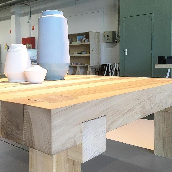 Made in Nijmegen bij C-More Concept Store | Hella's vaasjes en Studio in de maak Japanse knoop tafel