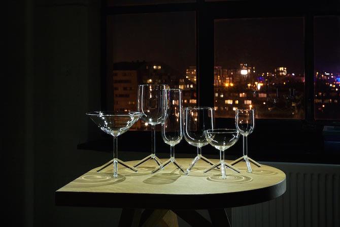 Louise Tripod glasses | wijnglas - champagne glas | Maarten Baptist | Room|LOFT#2 | C-More Concept Store