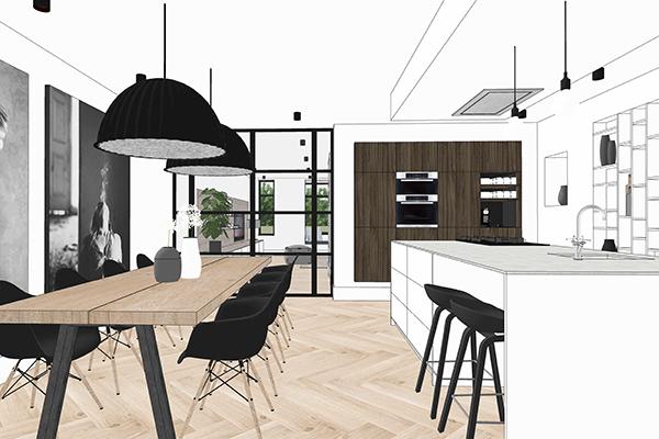Sketch-up CURSUS 3D TEKENEN VOOR DE INTERIEURPROFESSIONAL Door studio Jet bij C-More Concept Store Nijmegen