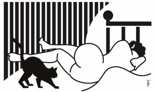 Chat au nu - Faber