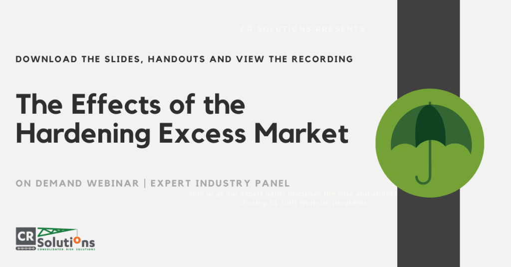 Effects of the Hard Market