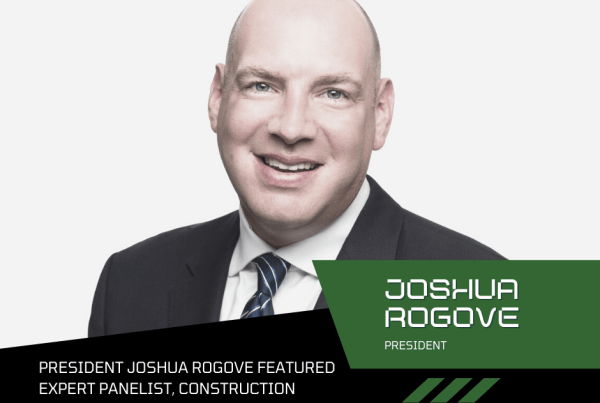 President Joshua Rogove Featured Expert Panelist, Construction Blockchain Podcast