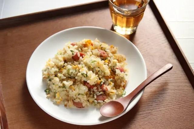 【今日ドキッ!】レンチン炒飯の作り方!業務田スー子さんの鮭フレークの時短レシピ!