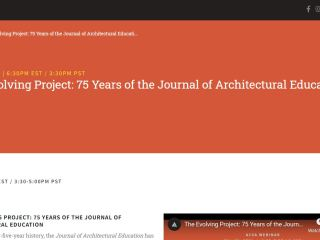 The Evolving Project: 75 Years of the Journal of Architectural Education