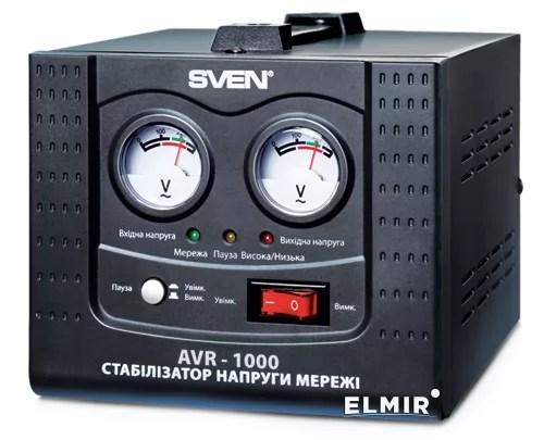 Стабилизатор напряжения Sven AVR-1000 купить   ELMIR ...