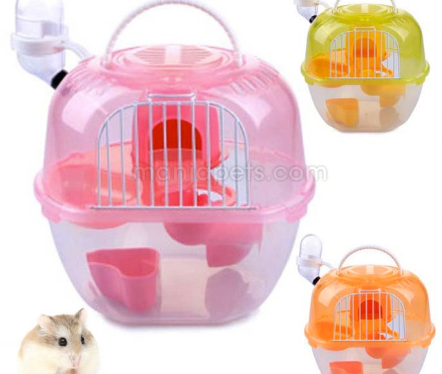 Apple Hamster Cage House Luxury Hamster Cage 7   4inch