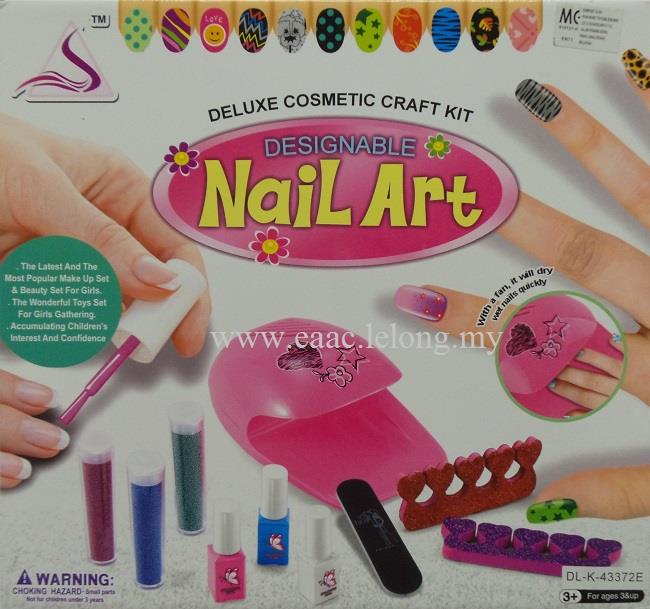 Diy Designable Nail Art Deluxe Estic Craft Kit A Toys For Kids
