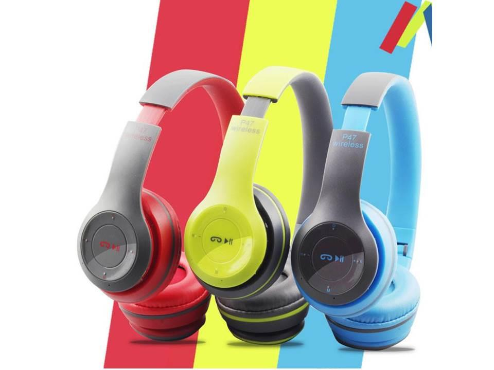 P47 Mini Bluetooth Wireless Headphones Headset Earphone Folding Wit