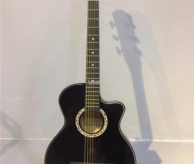 Semi Acoustic Guitar Gitar Semi Akustik Bajet Black