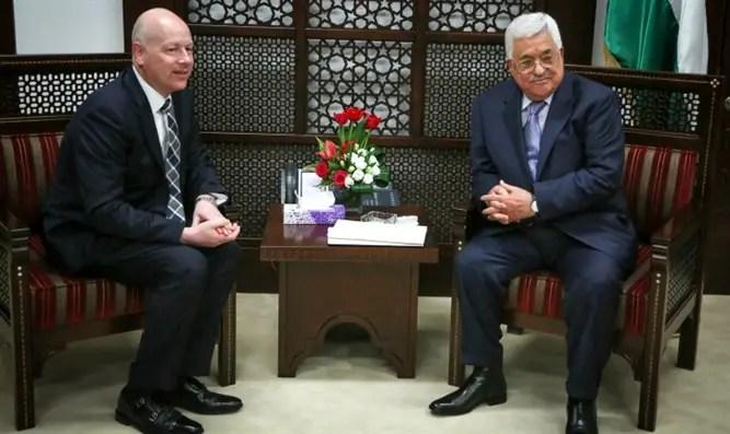 Jason Greenblatt meets with PA chief Mahmoud Abbas