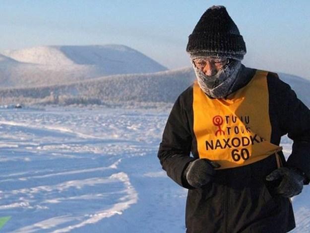 روس کے سرد ترین علاقے میں منفی 52 میں منعقد میراتھن ریس اس سال 5 جنوری کو ہوئی (فوٹو: اوڈٹی سینٹرل)