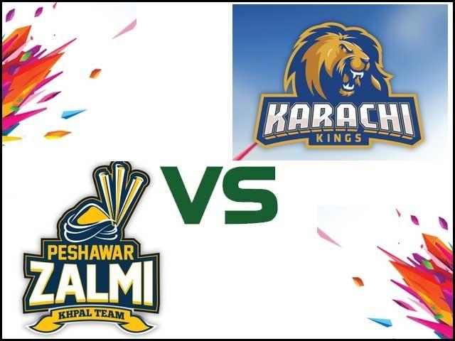 پشاور زلمی کا کراچی کنگز کیخلاف ٹاس جیت کر فیلڈنگ کا فیصلہ