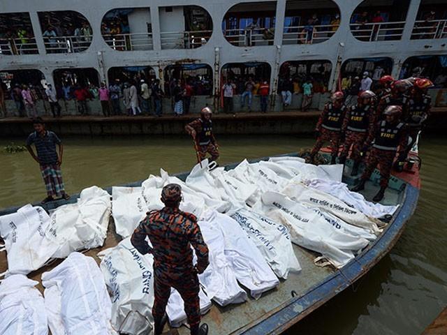 بنگلا دیش ؛ دو کشتیوں کے درمیان تصادم سے 23 مسافر ہلاک