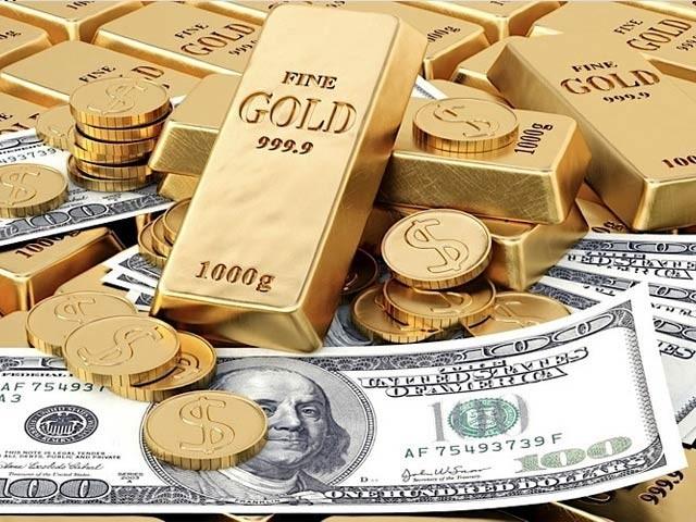 ڈالر کی تنزلی جاری، سونے کی قیمت میں کمی