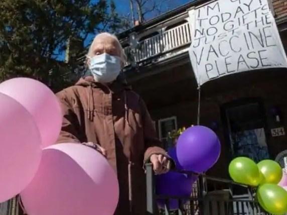 کینیڈا کی 94 سالہ خاتون نے اپنی سالگرہ پر انوکھے تحفے کی فرمائش کردی