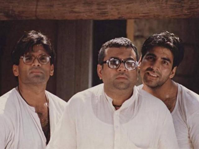سنیل شیٹھی اور اکشےکمار نے 21 سال بعد فلم 'ہیرا پھیری' کی یادیں تازہ کردی