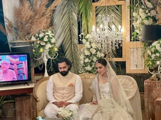 جبران ناصر اور منشا پاشا کی منگنی دسمبر 2019 میں کراچی میں ہوئی تھی۔