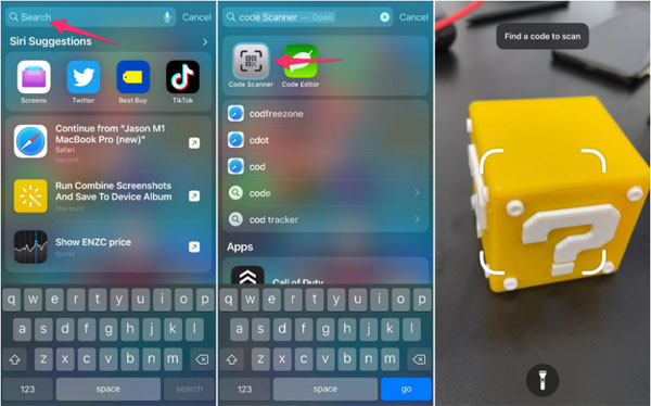 iPhone Code scanner app